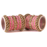 Set of 2 Traditional Colored Silk Thread Bangle Set