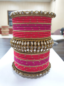 Bridal Kundan Bangle Set