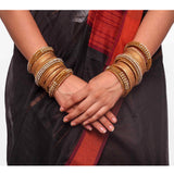 Set of 2 Bridal Jaali Work Bangle Set