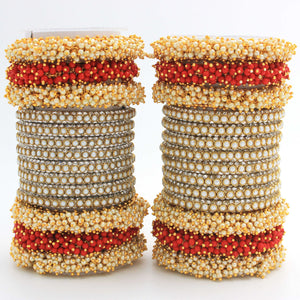 Set of 2 Lac Bridal Bangle sets by Leshya