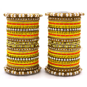 Set of 2 Fancy Bridal Bangle sets by Leshya