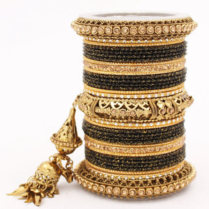 Antique Jhumki Latkan Bangle set for Women by Leshya