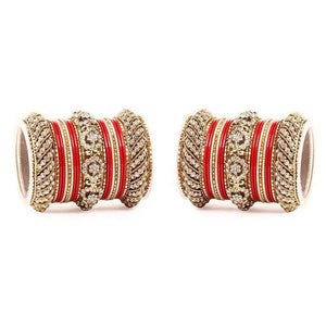 Set of 2 Solid Colored Bangle Set