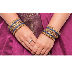 Colored Daily Wear Bangle Set With Flower Jaali Work