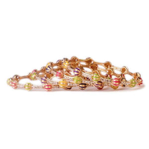 Beautiful Multi-Colored Meenakari Bracelets (4pcs)