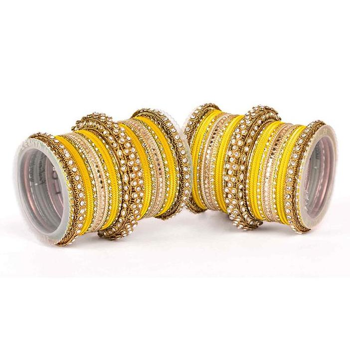Set of 2 Traditional Colored Bangle Set