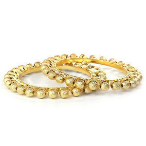 Heavy Design Set of 2 Pearl Real look-like jewellery Golden Pacheli Kada Bracelet