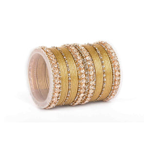 Beautiful Shimmering Brass Bangle Set