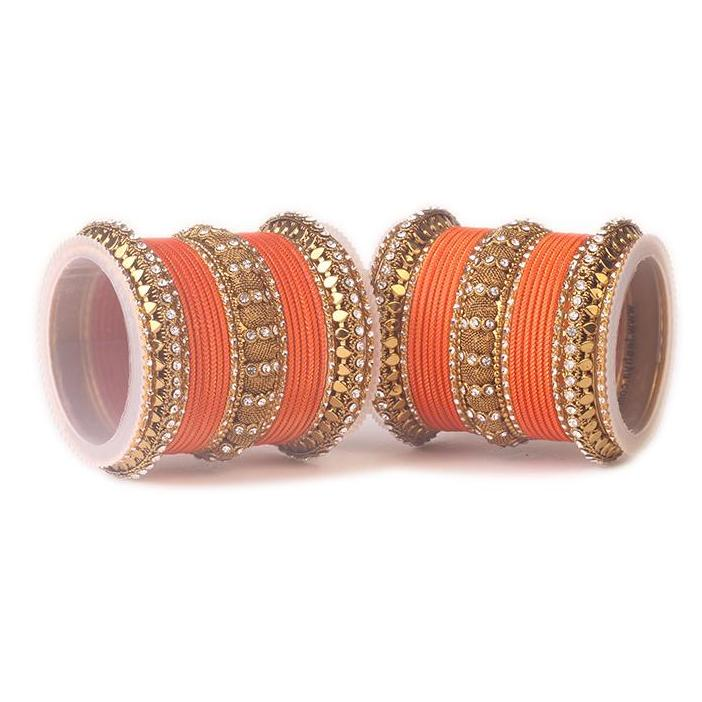 Set of 2 Traditional Solid Colored Bangle Set
