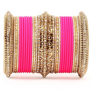 Set of 2 Bridal Neon Textured Bangle Set