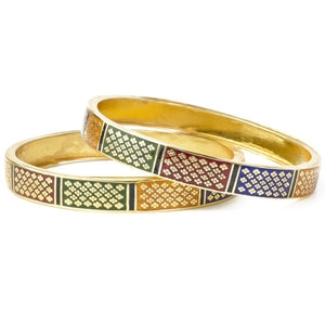 Set of 2 Meenakari Bracelets with Gold Polish meant for Daily Use