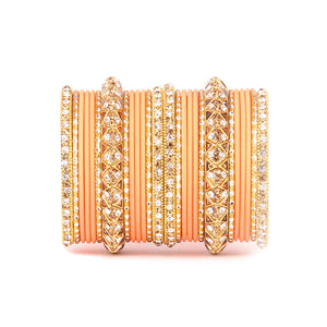 Antique Lac Bracelet With Matte Finish Bangle Set For Women