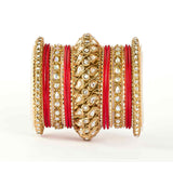 Traditional All Kundan Bangle Set For One Hand