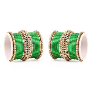 Set of 2 Bridal Kundan Bangle Set