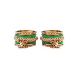 Traditional Shining Jhumki Bangle Set For Two Hands
