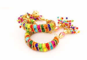 Free Size Multicoloured Bracelet Pair by Leshya