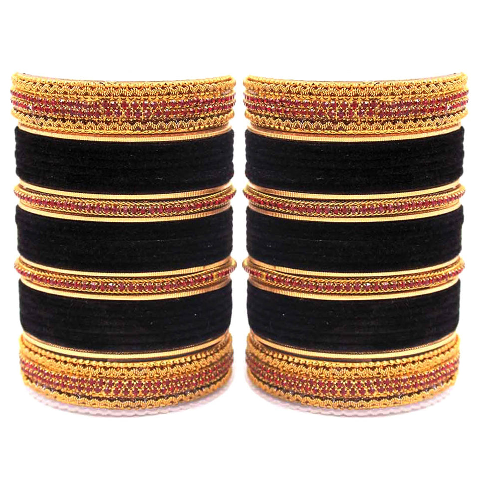 Traditional Brass based Bangle set by Leshya for Both Hands