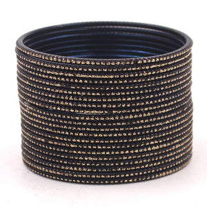 Set of 24 Glitter Bangles by Leshya