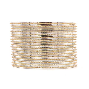 Shining Glitter Bangles with golden borders by Leshya