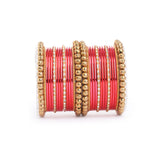 Traditional Indian Bangle Set with Antique Kadas designed for Women