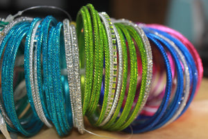 Traditional Glitter Mix'N'Match Bangle Bunch (Plus Size)
