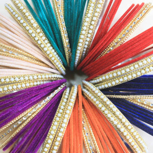 Copy of Mix'N'Match Velvet Bangle Bunch (6 colours) (Plus Size)