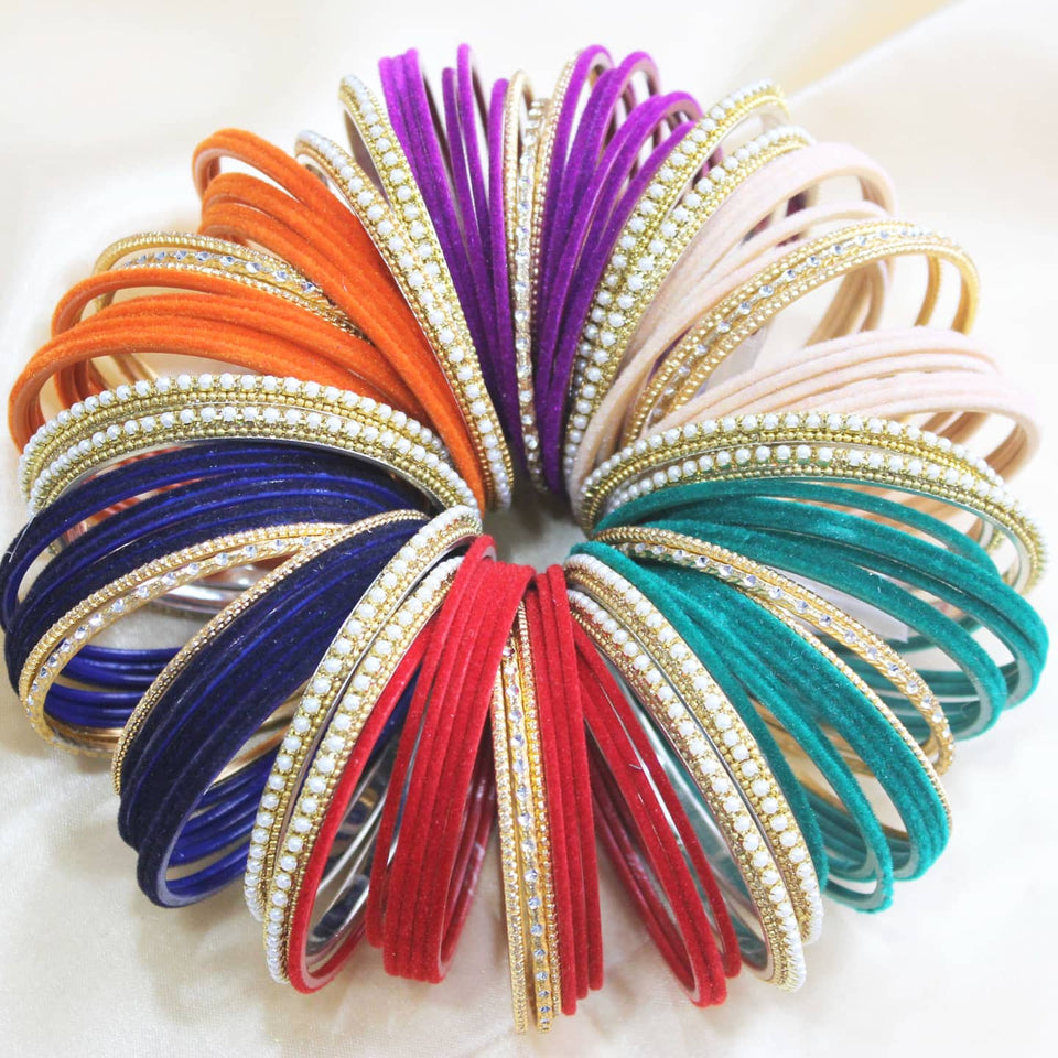 Mix'N'Match Velvet Bangle Bunch (6 colours)