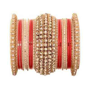 Leshya Golden Chakri shining bangle set for women
