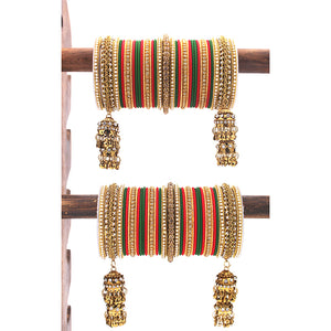 Traditional Jhumki Bangle set by Leshya