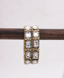 Traditional Long Kundan Kada Pair by Leshya