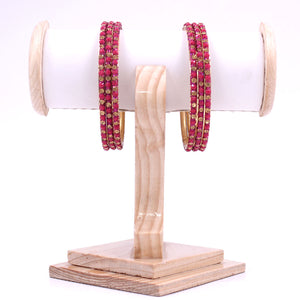 Brass Based Bangles with Coloured Stones by Leshya