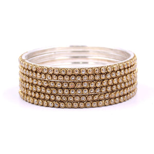 Brass Based Bangles with Running Bead work by Leshya
