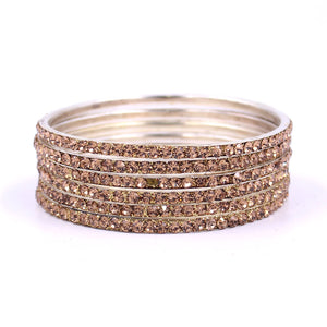 Brass Based Bangles with Silver Zari Work by Leshya