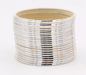 Set of 24 Shining Metal Bangles by Leshya (Plus Size)