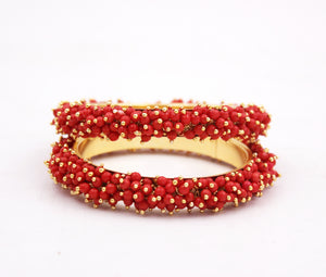 Set-of-2 Bridal Ghungroo Bangles for all occasions by Leshya Bracelet (Plus Size)