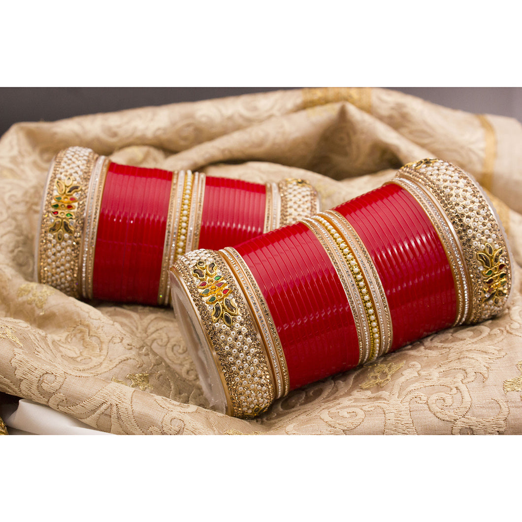 Traditional Bridal Chura by Leshya