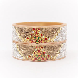 Bridal Chura Kada with Intricate Hand Painted Design by Leshya