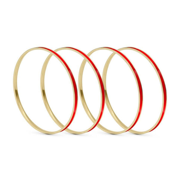 Set of 4 Brass Enamel for Dailywear by Leshya