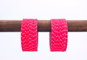 Plain golden dotted bangles