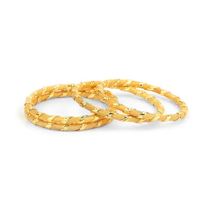 Set of 4 Wire mesh Golden Kada for Dailywear by Leshya