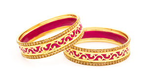 Traditional Meenakari Bracelet pair by Leshya