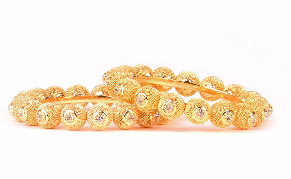 Bridal Gold Plated Bracelet With Kundan Stone And Intricate Jaali Work For Women