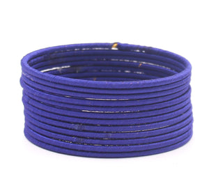Set of 12 Plain Thread Bangles by Leshya