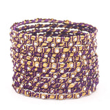 Set of 12 Thread Bangles with Stone by Leshya