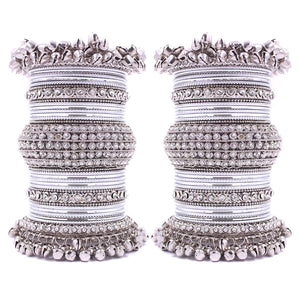 Beautiful Bridal Bangle Set with Ghungroo Latkan by Leshya