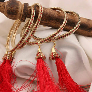 Beautiful Set of 4 Tassel Dangler Bracelets by Leshya