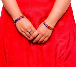 Twisted Multi-Colored Meenakari Bracelet (4pcs)