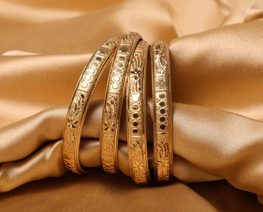 Guarantee Gold Dyed Bracelets With Stamping Design