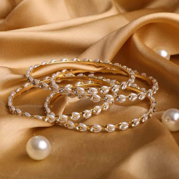 Set Of 4 Look-Like Jewellery Pearl Bracelets