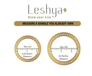 Set of 4 Golden Charm Bracelets by Leshya